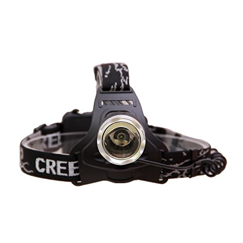 Hausbell Outdoor 1800LM CREE T6 LED Waterproof Headlamp with 2 X 18650 Rechargeable Batteries and 1 X Charger