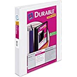 Avery Durable View Binder with 1-Inch Slant Ring, Holds 8.5 x 11 Inches Paper, White, 1 Binder (17012)