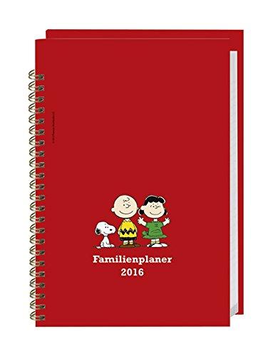 Peanuts Familienplaner Buch A5 - Heye-Kalender 2016 - Familienkalender für 5 Personen - Schulferien und Stundenplänen - 15,2 cm x 23,2 cm