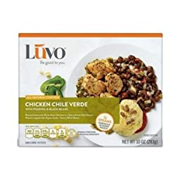 Luvo Chicken Chile Verde with Polenta & Black Beans ,10 Ounce  (Pack of 8)