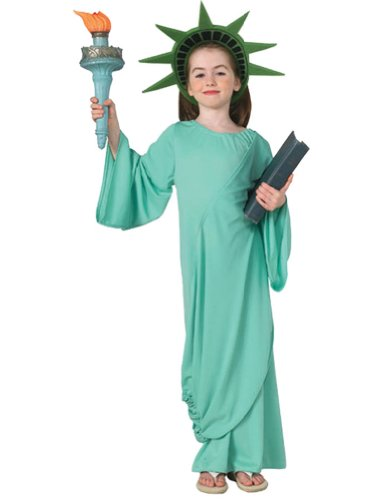 Statue Of Liberty Kids Costume Lg Kids Girls Costume