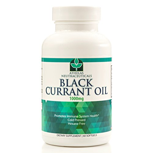 Black Currant Oil 1000mg - Cold Pressed - Hexane Free - High in GLA - Supports Healthy Hair, Skin, and Nails - Assists Menstrual Cycle - Softgel Capsules Supplement (Black Seed Extract Capsules compare prices)