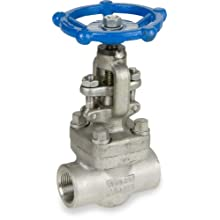 Sharpe Valves 44836 Series Stainless Steel 316L Globe Valve, Bolted Bonnet, Inline, Hand Wheel, NPT Female