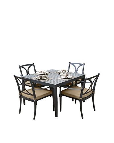 RST Brands Astoria 5-Piece Cafe Dining Set, Beige