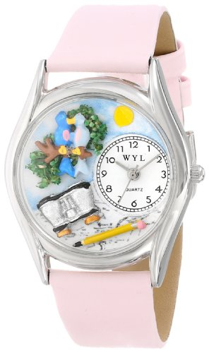 Whimsical Watches Women'S S0150012 Bird Watching Yellow Leather Watch