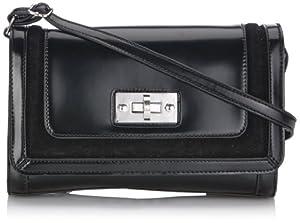 Ara Knightsbridge Flap Bag 4160000130, Damen Umhängetaschen, Schwarz (black 900), 27x16x7 cm (B x H x T)