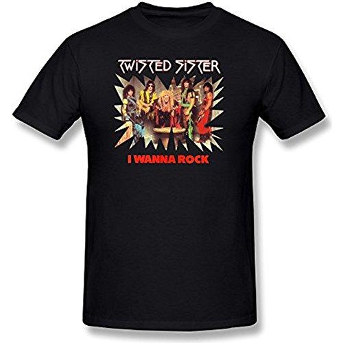 AKERY Men's Twisted Sister I Wanna Rock T-shirt S