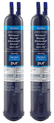 Whirlpool 4396841 Water Filter PUR Push Button Side-by-Side Refrigerator 2-Pack (Cordless Cone Vacuum compare prices)