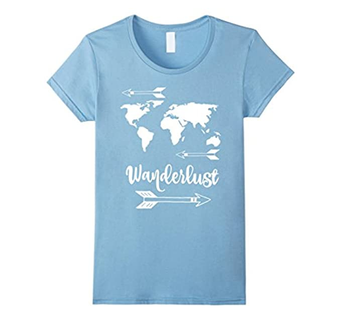Wanderlust Travel World Map Adventure T-Shirt