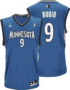 NBA adidas Ricky Rubio Minnesota Timberwolves Revoultion 30 Replica Jersey - Slate... by adidas