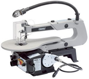 Draper 22791 405mm 90W 230V Variable Speed Fretsaw with Flexible Drive Shaft and Worklight