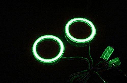 AUMO-mate vert 2 Pcs 70mm automatique de voitures COB LED Angel Eyes Anneau anneau lumineux lampe