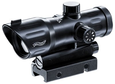 Walther PS 55 Dot Sight, Red Duplex Reticle, 7 Brightness Settings, 1/4 MOA, Integral Weaver Mount by Walther