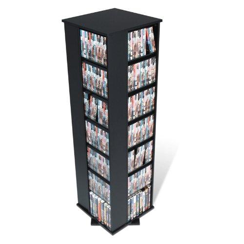 Prepac Black 4 Sided Large Spinning Media Dvd Cd Games