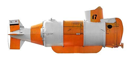 Wallmonkeys WM16678 Orangewhite Submarine Peel and Stick Wall Decals (30 in W x 15 in H)