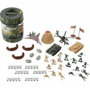 Buy Low Price Geoffrey True Heroes – Military Playset – 72 Piece Set – With Storage Container – Figure (B004EEIBXG)