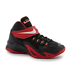 Boy\'s Nike Soldier VIII Basketball Shoe Black/Red/White Size 7 M US