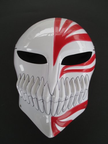 New Arrivals Halloween Death Ichigo Kurosaki Masquerade -Red and White