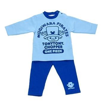 (ワンピース)ONE PIECE パジャマ上下セット 95cm サックス(パンツ青)