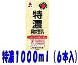 紀文 特濃調整豆乳 1000ml 6本 (1ケース6本入)