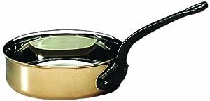 """Matfer Bourgeat COPPER SAUTE PAN WITHOUT LID 9 3/8"""" by Matfer Bourgeat"""