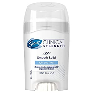 Secret Clinical Strength Advanced Solid Antiperspirant & Deodorant Light And Fresh Scent 1.6 Oz (Pack of 2)