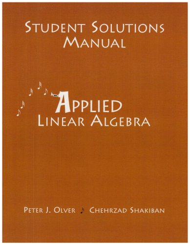 Student Solutions Manual for Applied Linear Algebra