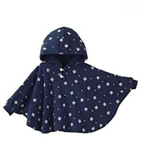 Zenness Vintage London Baby Adorable Reversible Cloak Hoodie Poncho Baby Mantle