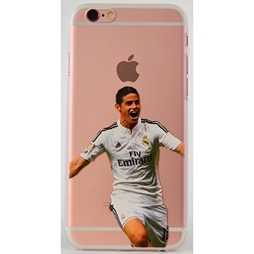 James Rodriguez iPhone 6/s Graphic Image Transparent Cell Phone Protective Case Real Madrid Columbia player (James, iPhone 6s)