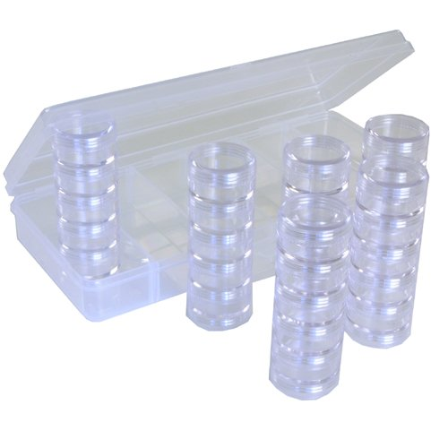 PAYLAK Storage Box Divider Tray 30 Round Stackable Clear Containers Multi-functional Organizer For Small Items at Sears.com