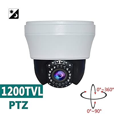 SW 1200TVL 4inch 10x Optical Zoom IR Day Night Vision 25m IR Distance Analog Pan Tilt Zoom Security Dome Camera Surveillance CCTV PTZ