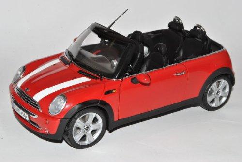 Mini Cooper Cabrio Rot mit weißen Streifen R57 2008-2013 1/18 Kyosho Modell Auto