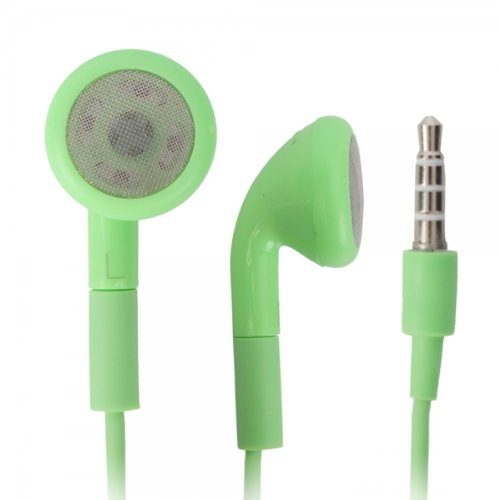 Green 3.5Mm Stereo Fashion Earphone Headsets With Microphone For Sony Xperia Mint (By Things Needed)