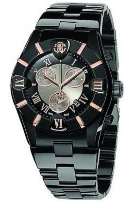 Roberto Cavalli - 7253616045 - Diamond Time - Montre Homme - Quartz Analogique - Boîtier Acier Noir - Bracelet Acier Acier Noir