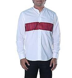 Riverbero Men's Casual Shirt (SN_DFS_205_White_38)
