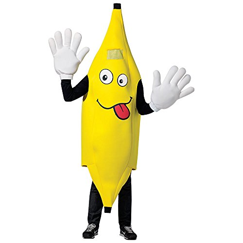 Adult Waving Banana Mascot Halloween Costume