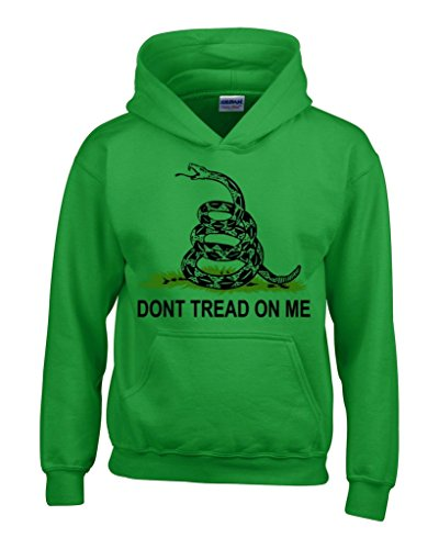 Don'T Tread On Me Hoodie Unisex Gadsden Flag Sweatshirts #13624 Medium Irish Green