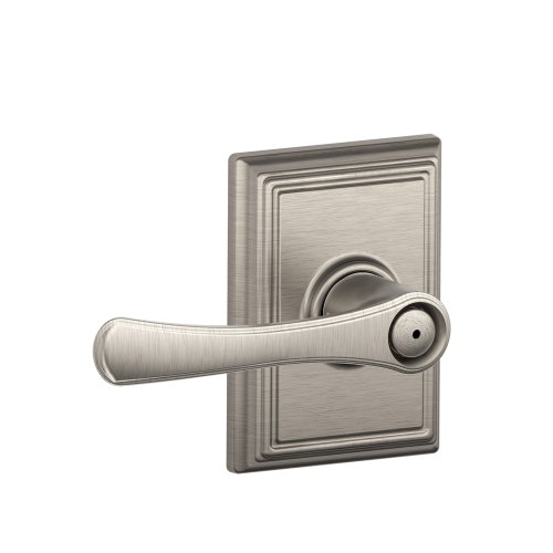 Schlage F40 VLA 619 ADD 16-080 10-027 134 N N SL Addison Collection Avila Bed and Bath Lever, Satin Nickel Add Bath