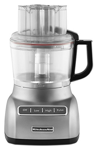 KitchenAid KFP0924CU 9-Cup Food Processor with ExactSlice System and French Fry Disc - Contour Silver
