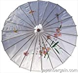 Japanese Chinese Oriental White Kid's Parasol Kasa 22in #157-15