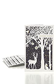 8 Silhouette Scene Luxury Christmas Multipack of Cards [T21-2284M-S]