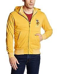 U.S.Polo.Assn. Men's Cotton Sweatshirt (8907259140032_USSS0513_XXL_Honeygold)