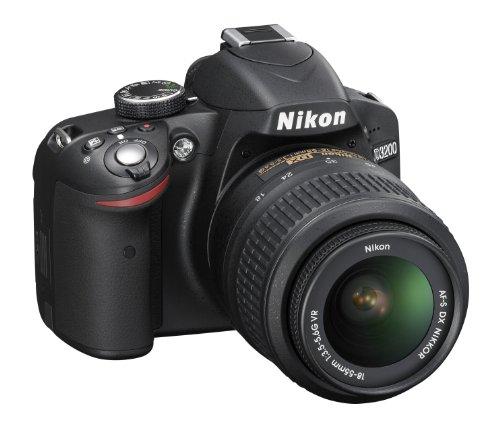 Nikon D3200 24.2 MP CMOS Digital SLR with 18-55mm f/3.5-5.6 AF-S DX VR NIKKOR Zoom Lens (Black): NIKON