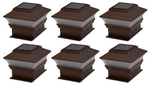 Tricod Pl244 Plastic Copper Square Post Deck Fence Mount, 6-Pack Outdoor/Garden/Yard Maintenance (Patio & Lawn Upkeep)