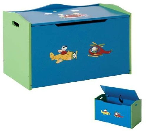 Kids Ottoman Storage Toy Chest Blanket Box Childrens Bedroom Storage Box