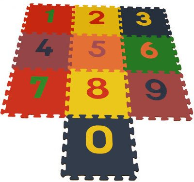 Picture of FHP Interlocking Color Foam Puzzle Mats - Numbers 0-9 (B0033Y39ZS) (Puzzle Play Mats)