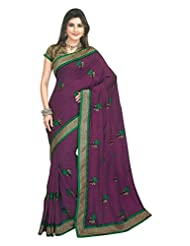 Bhagalpuri Silk Saree In Purple Colour For Festive Wear