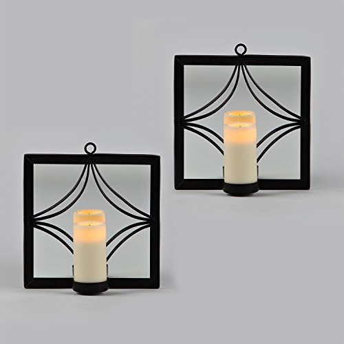 Wall Votive Sconces: Candle Impressions Set Of 2 Bronze Mirror Sconces With