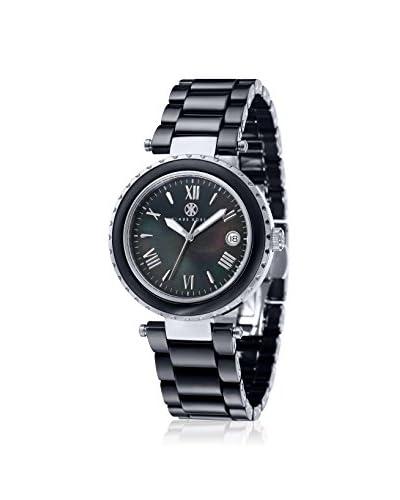 Klaus Kobec Women's 10005-04 Venus Black MOP Stainless Steel Watch