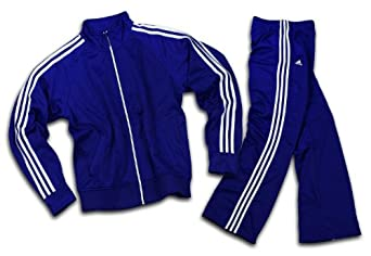 Adidas Womens Athletic and Casual Tracksuit, Pants and Jacket (Large, Navy Blue)